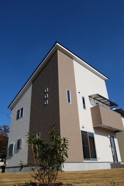 倉敷市 片流れ屋根の新築の家 外観
