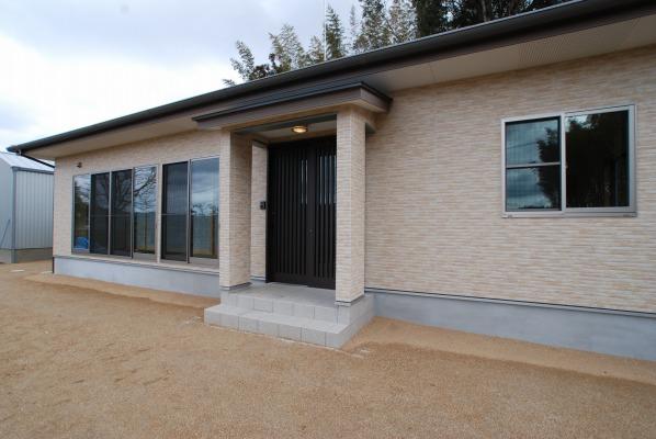 吉備中央町の平屋の家・サイディング貼りの外観