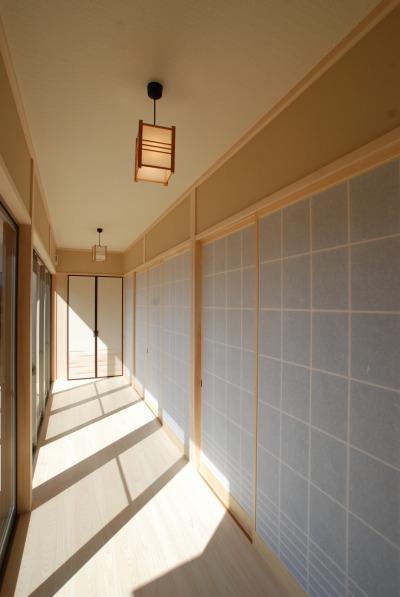 吉備中央町の平屋の家・日当たりの良い南側に設けた広縁