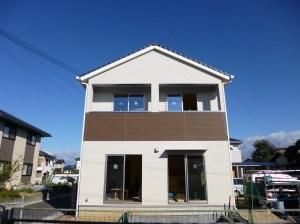 倉敷市 リビング18帖 切妻屋根の家 新築工事