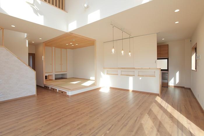 倉敷市 鉄骨造の家 大空間の邸宅