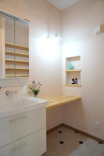 倉敷市の3LDKの可愛い家・洗面所