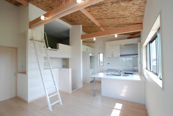 高さ方向にもスペースを有効利用した 4層2階建ての家