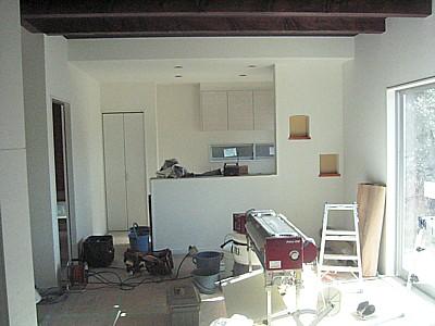 岡山市政津 K様邸 内装工事・屋外仕上げ施工中