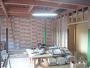 吉備中央町 広い和室のある平屋の家 大工工事
