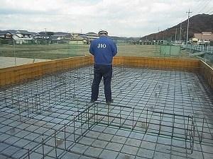 井原市の家 新築工事 検査機関JIOによる配筋検査