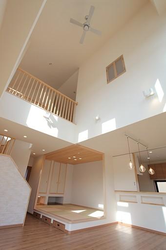 倉敷市 鉄骨造の家 大空間の邸宅 内装