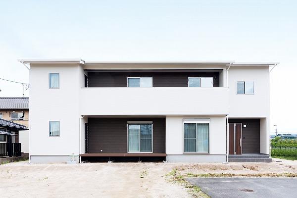 2世帯で暮らす真備の家