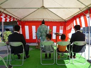 倉敷市船穂町の家 地鎮祭